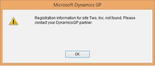 Please contact your Dynamics GP partner